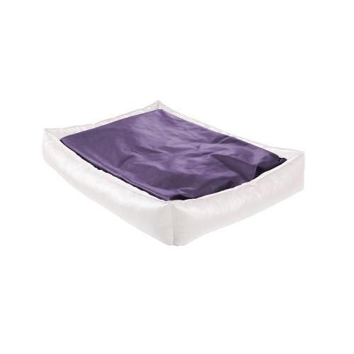 Orthopedisch Hondenbed XL met Traagschuim - 90x125x20cm - Purple & White Twist