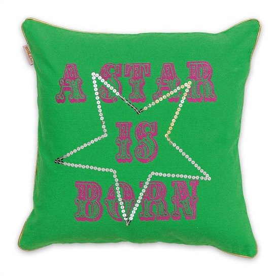 Little Diva Star Cushion Green