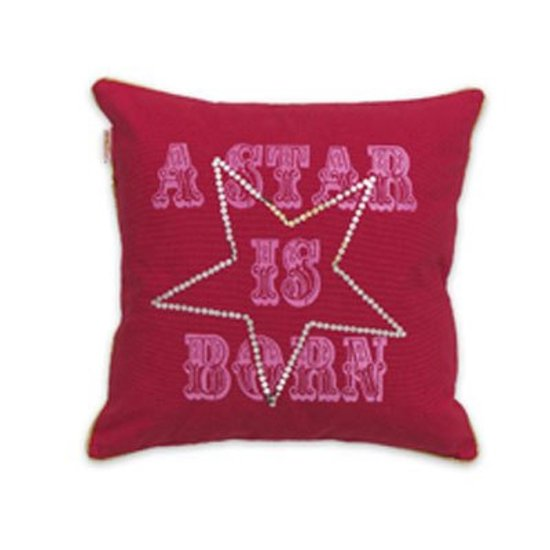 Little Diva Star Cushion Red