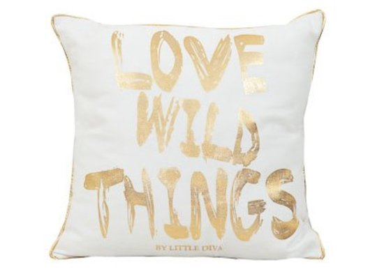 Little Diva Wild Thing Cushion White