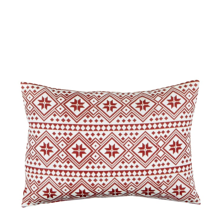 Moltex Cushion Mette Red/White
